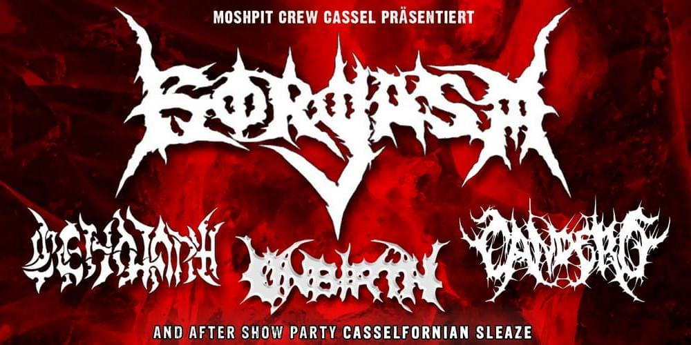 Tickets Gorgasm, Cenotaph, Candero, Unbirth in Kassel